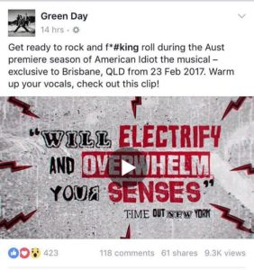 Thanks to the boys for sharing our trailer for americanidiotlivehellip